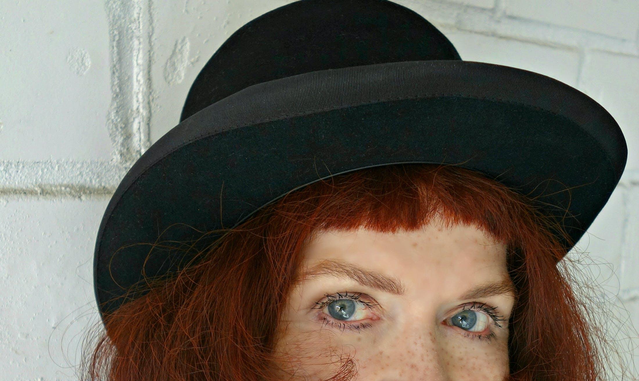 Free stock photo of eyes, hat, white, head