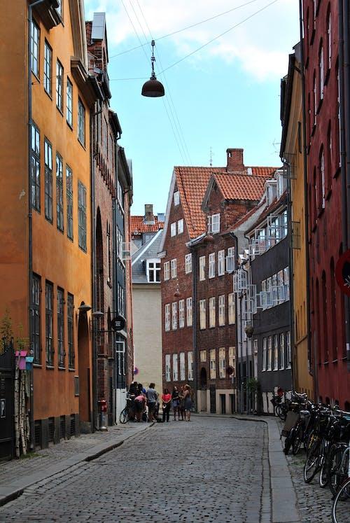 Free stock photo of buildings, calm, cobblestone street