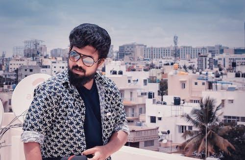도시, 선글래스, 인도 남성, 패션의 무료 스톡 사진