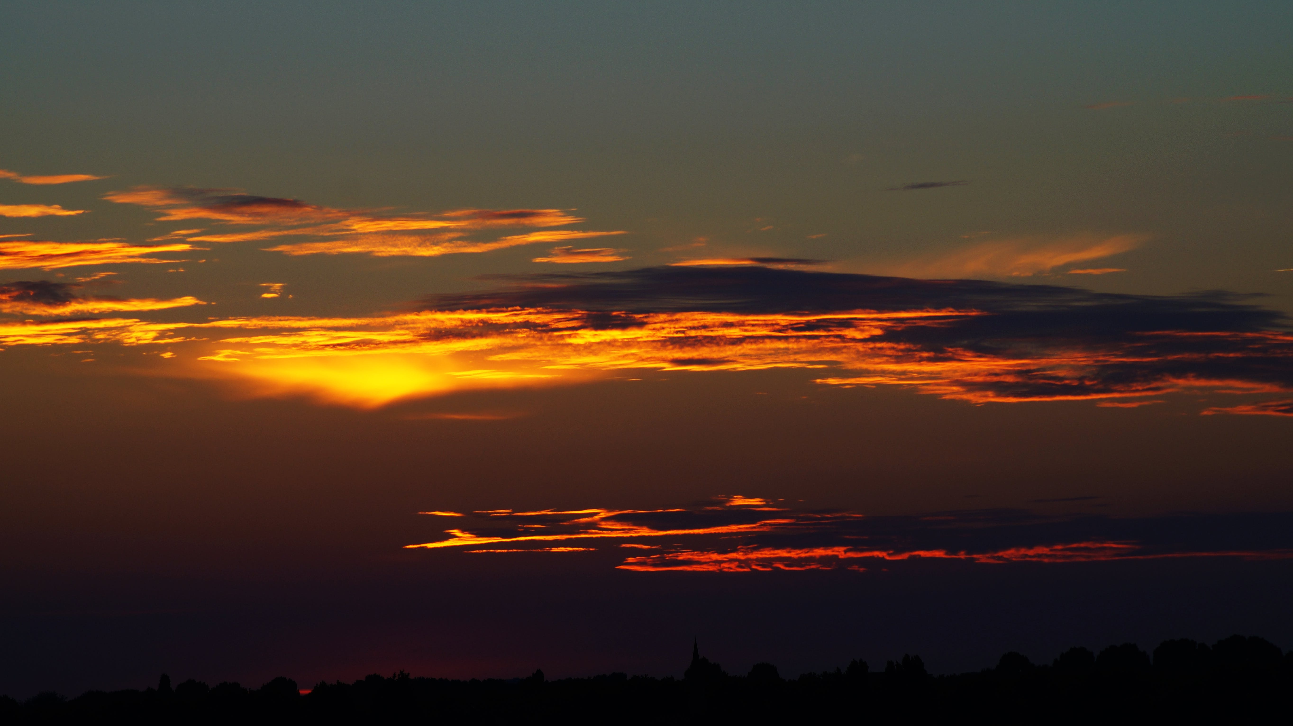 Black Clouds during Sunset Landscape Photography