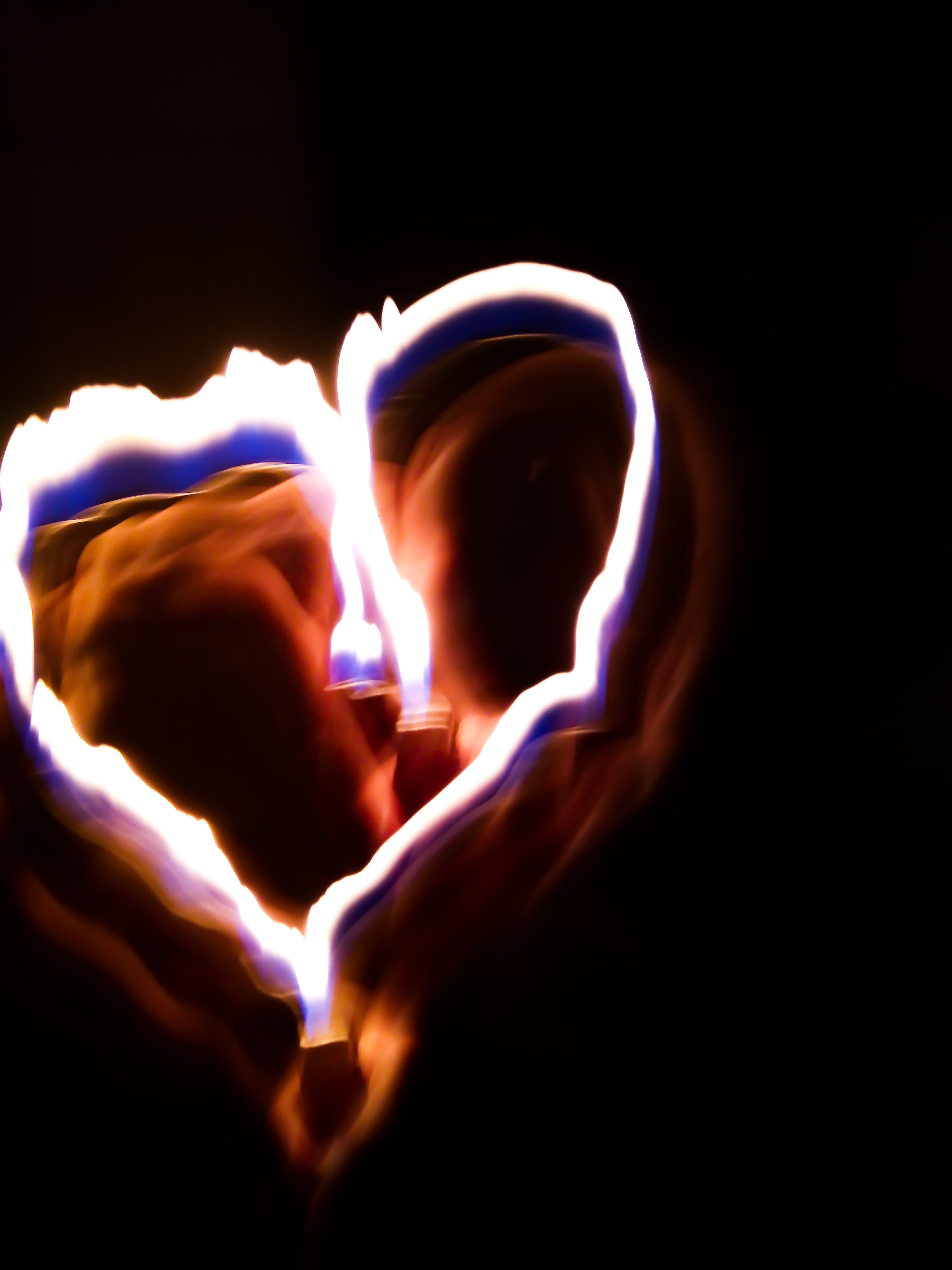 Free stock photo of fire, heart, light