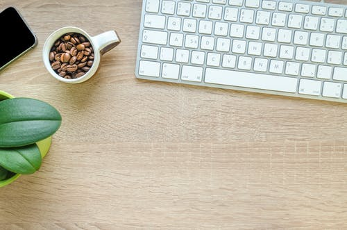 Free stock photo of coffee, cup, drink, keyboard