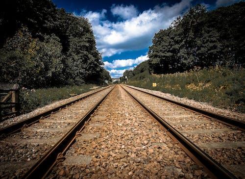 Free stock photo of horizon, rail, railroad tracks, train