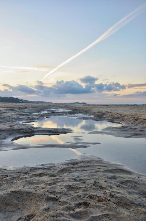 Základová fotografie zdarma na téma moře, mraky, odraz, písek