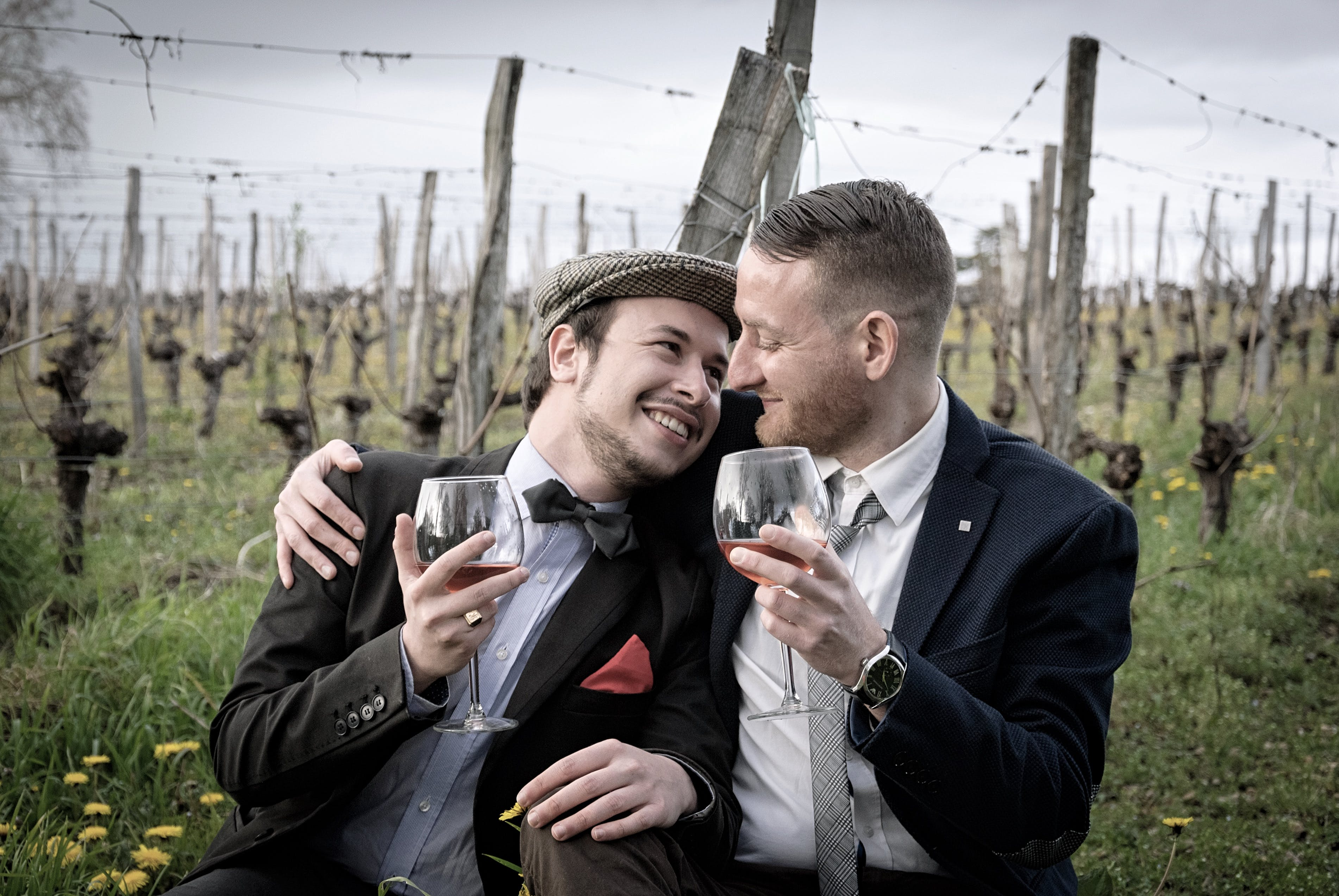 Photo of People Drinking Wine