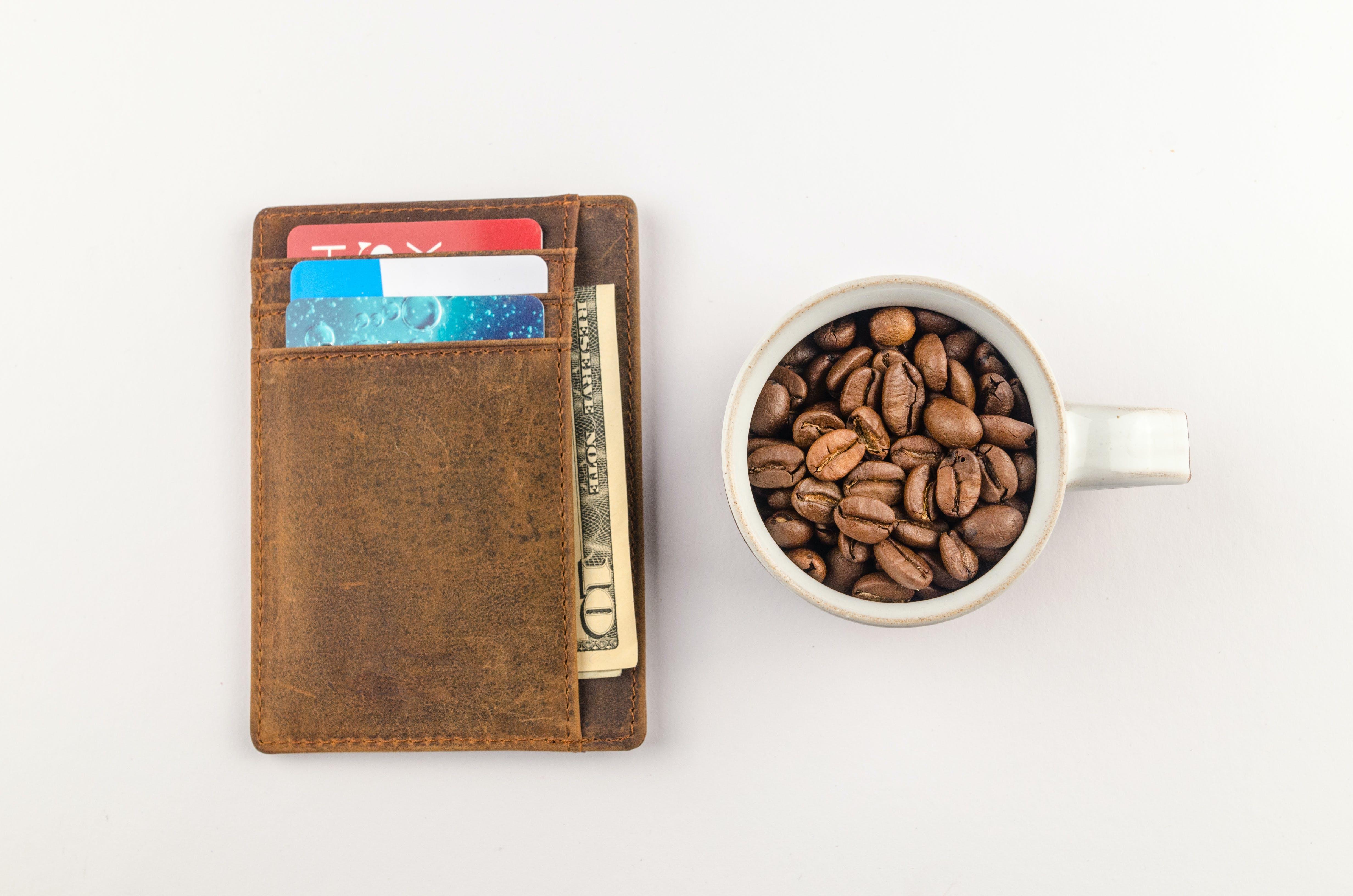 kaffebønner, koffein, kop