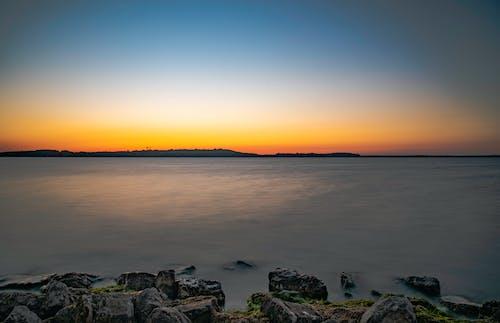 シースケープ, 夜明け, 日の出, 水の無料の写真素材