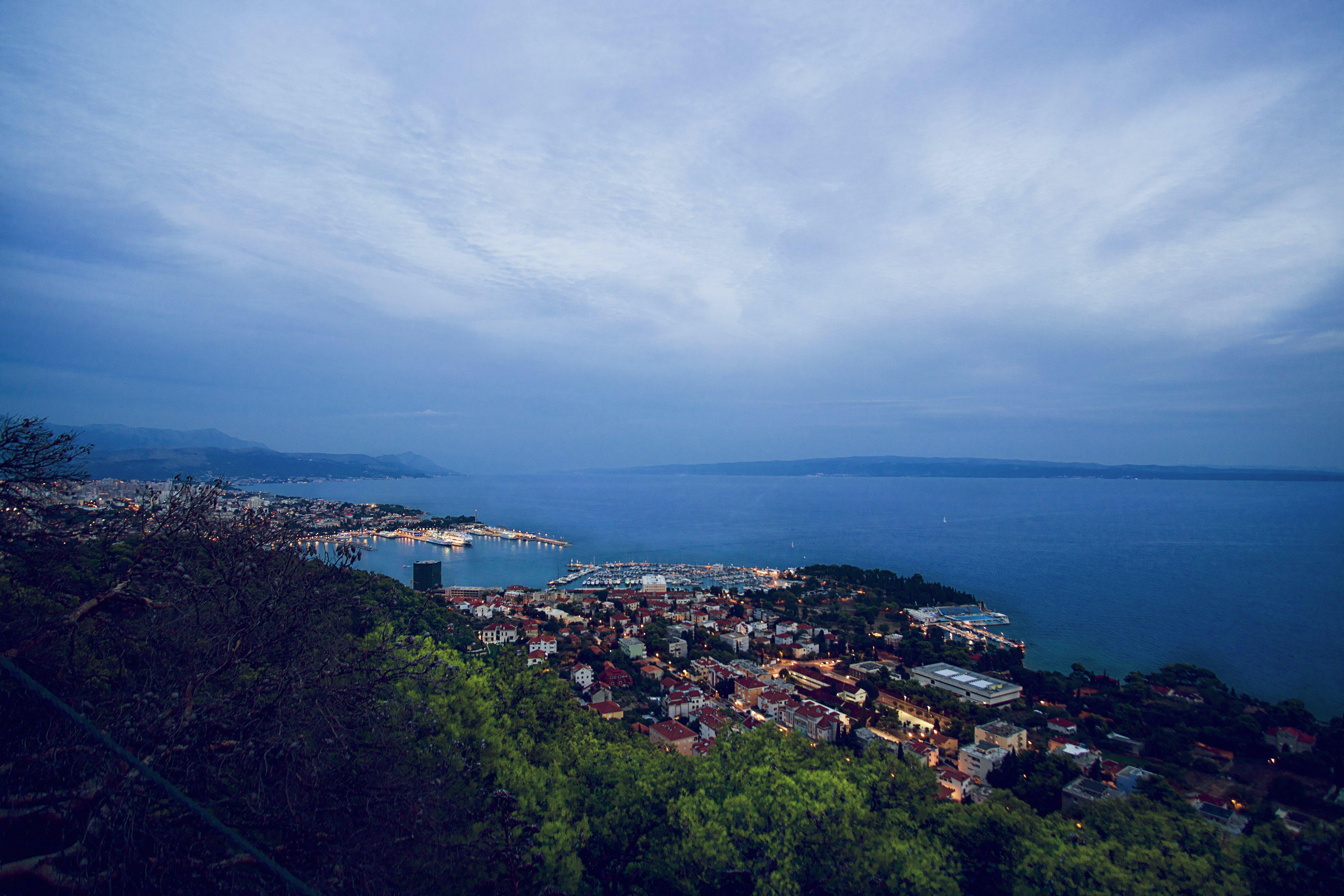 Free stock photo of city, cloud, croatia, hill