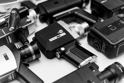 Бесплатное стоковое фото с видеозапись, инструменты, камеры, линза