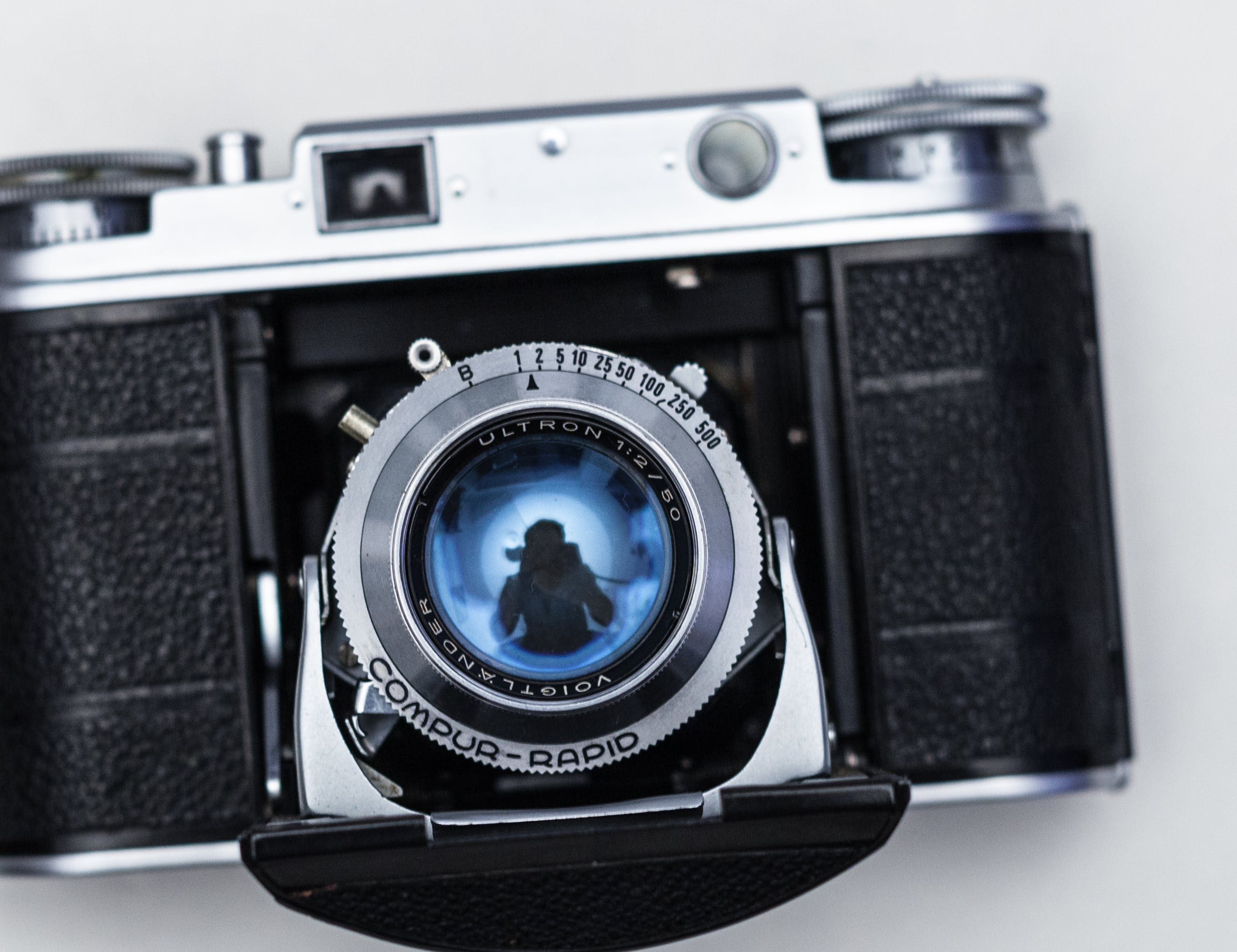 Gray and Black Film Camera