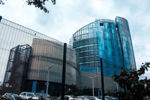 Бесплатное стоковое фото с архитектура, Архитектурное проектирование, Банк, голубой