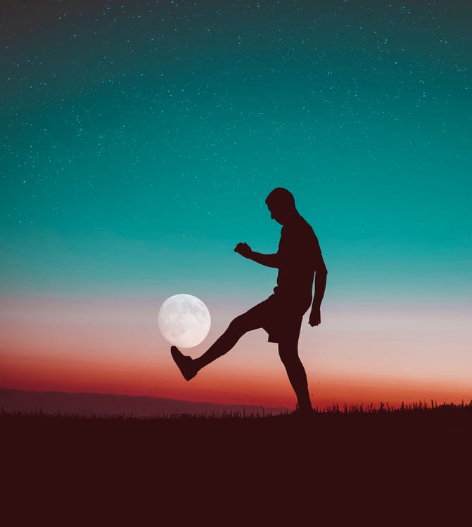 Free stock photo of full moon, man, moon