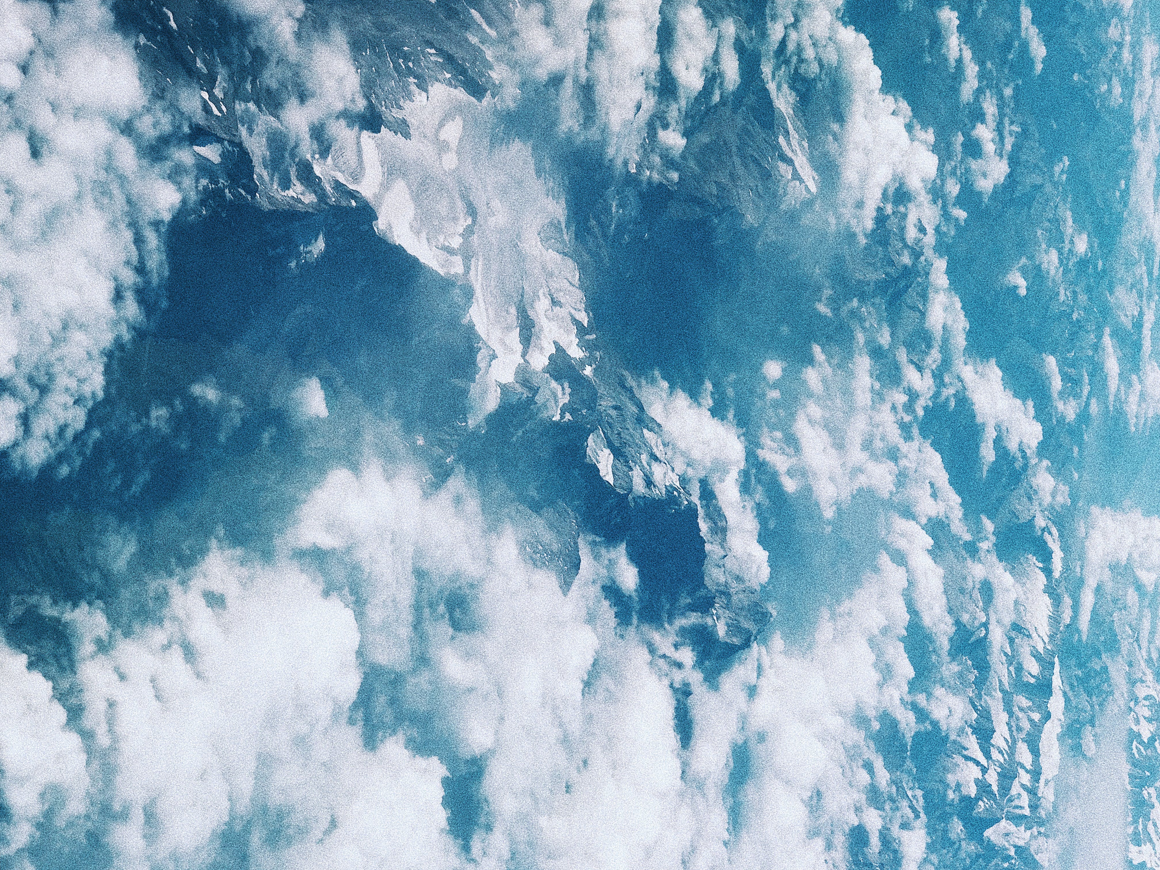 Free stock photo of air, background, blue, clouds
