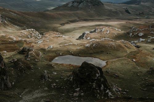 Foto stok gratis air, alam, batu, bukit