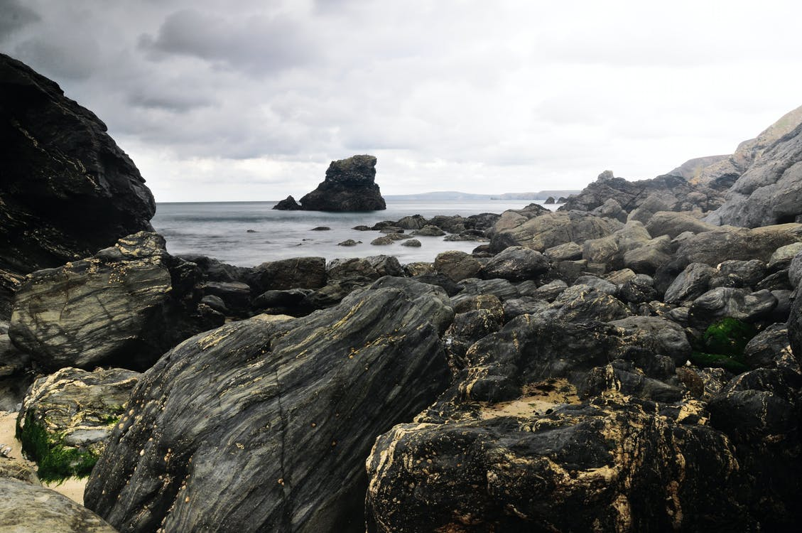 bølger, dagslys, hav