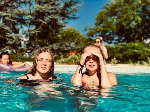 가족, 더그아웃 수영장, 레저, 레크리에이션의 무료 스톡 사진
