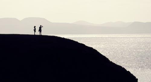 Základová fotografie zdarma na téma dvojice, kopec, lidé, panoráma