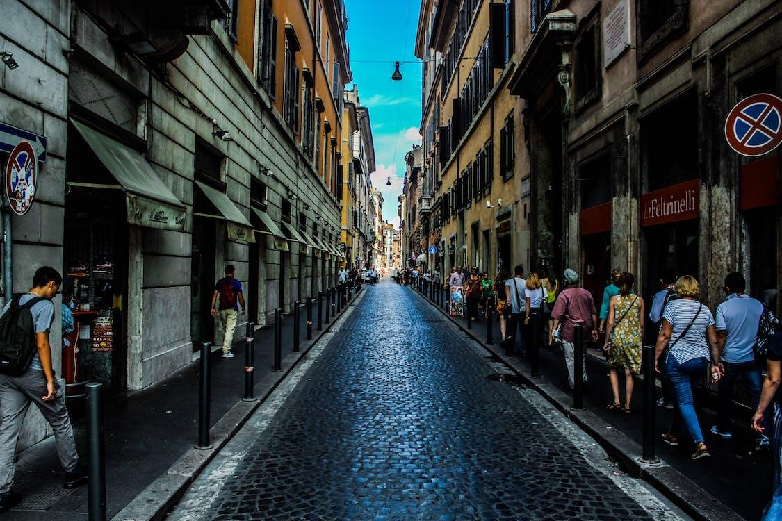 arquitectura, botigues, caminant