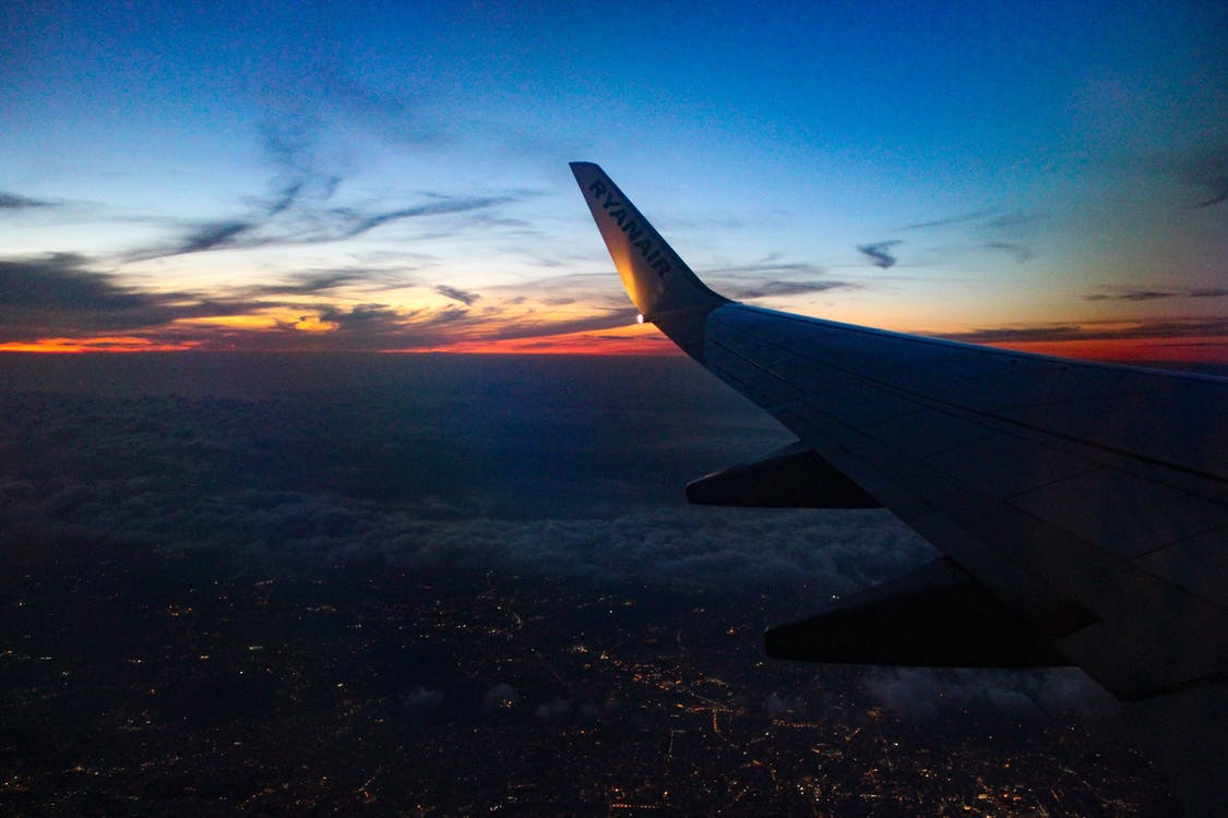 krajobraz, latanie, lot