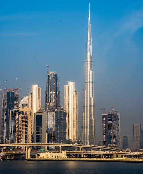 Burj Khalifa, dubai, en uzun, gökdelen içeren Ücretsiz stok fotoğraf