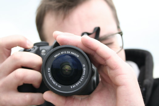 Free stock photo of camera, taking photo, photographer, lens