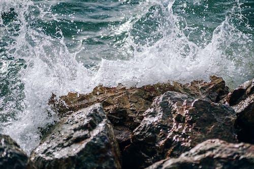Ocean Wave on Rocks