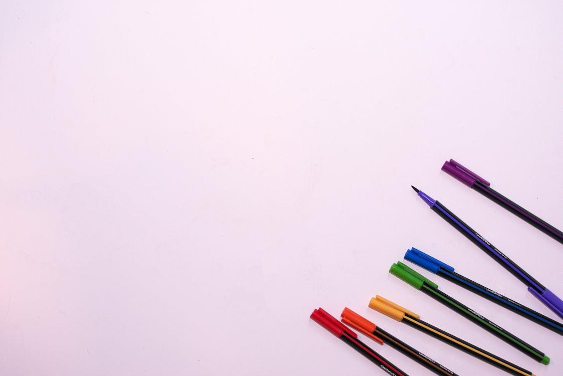 ดินสอ, ดินสอสี, พื้นหลังสีขาว
