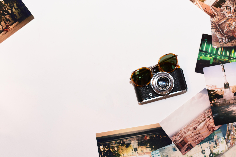 Brown Framed Eyeglasses on Camera