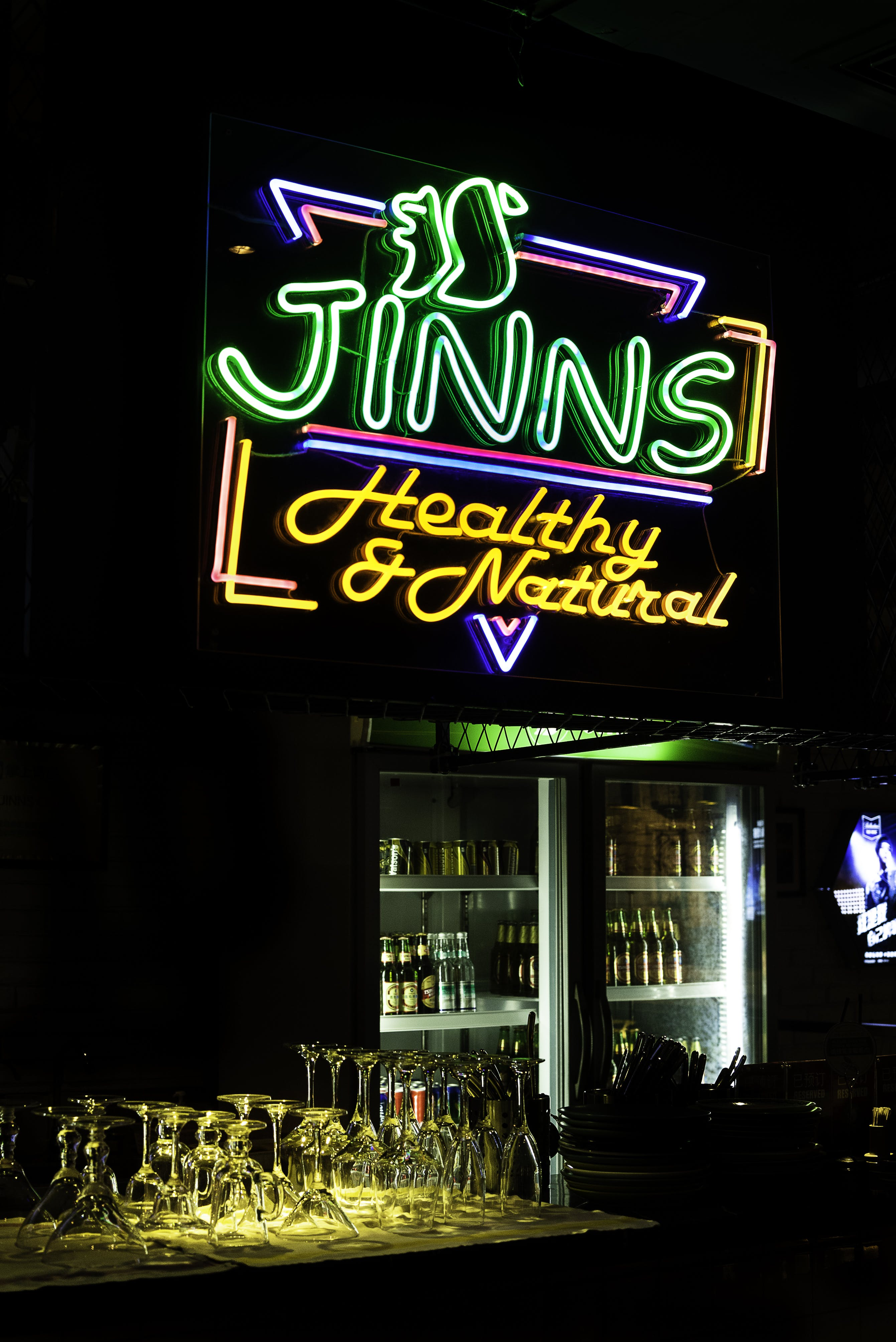 Jinns Healthy and Natural Neon Light Signage