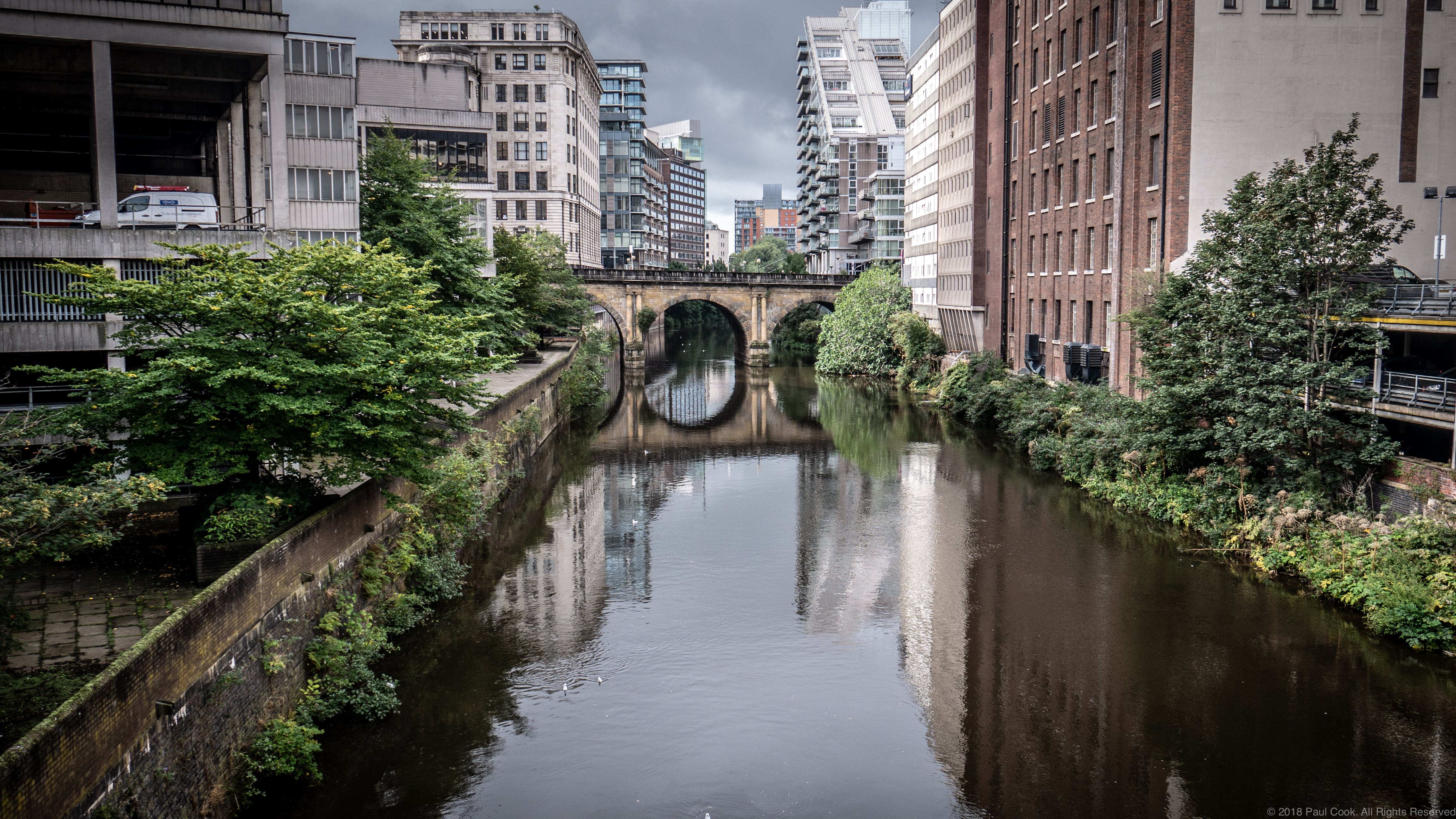 Free stock photo of canal, manchester, reflection