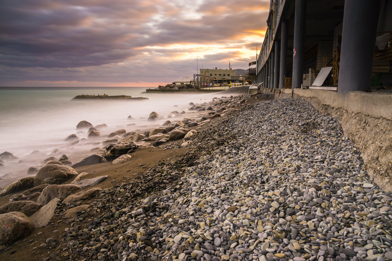 Základová fotografie zdarma na téma časosběr, dlouhá expozice, horizont, kameny