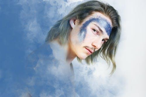 Imagine de stoc gratuită din albastru, bărbat asiatic, buze, expresie facială