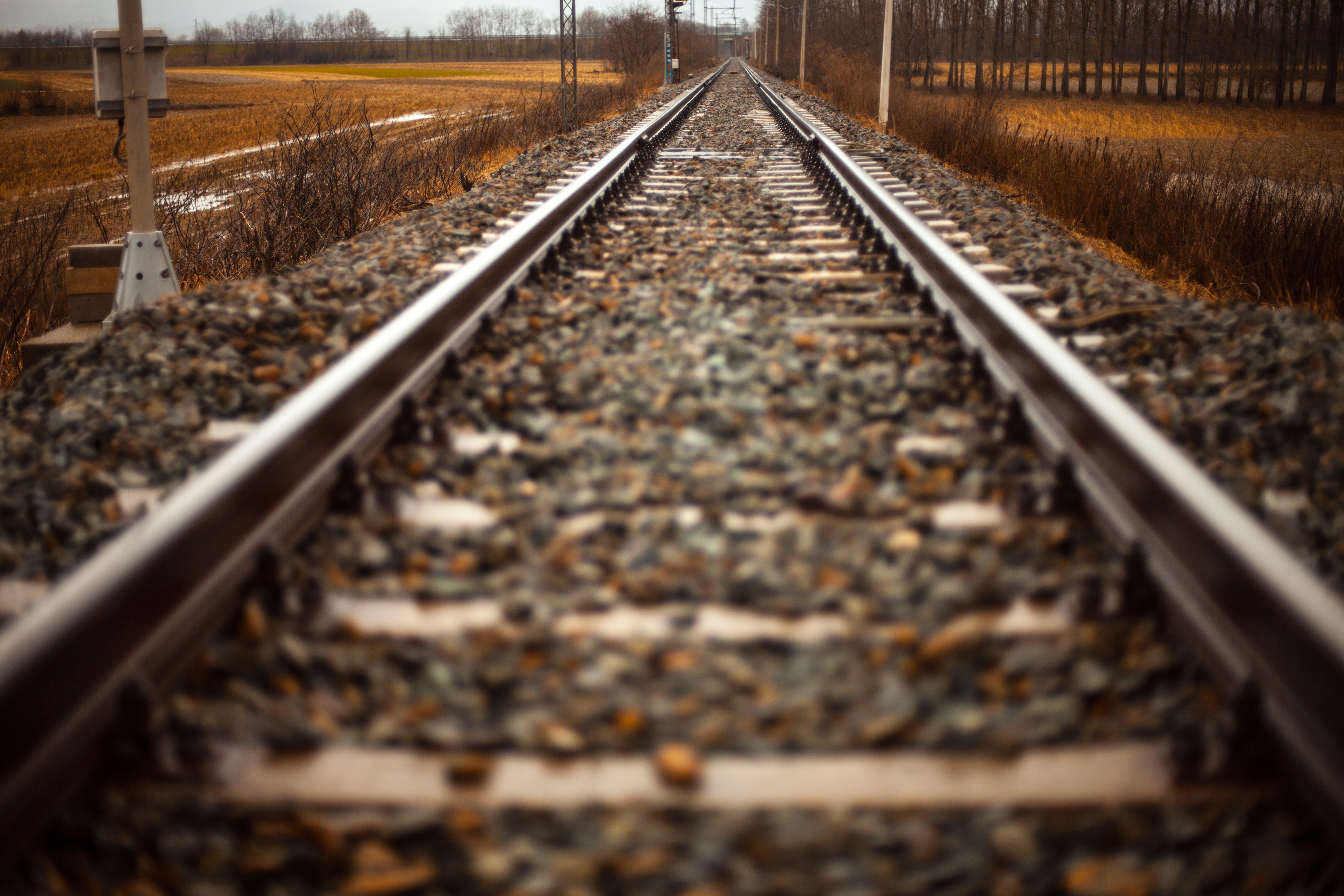 Shift-tilt Lens Photography of Train Track