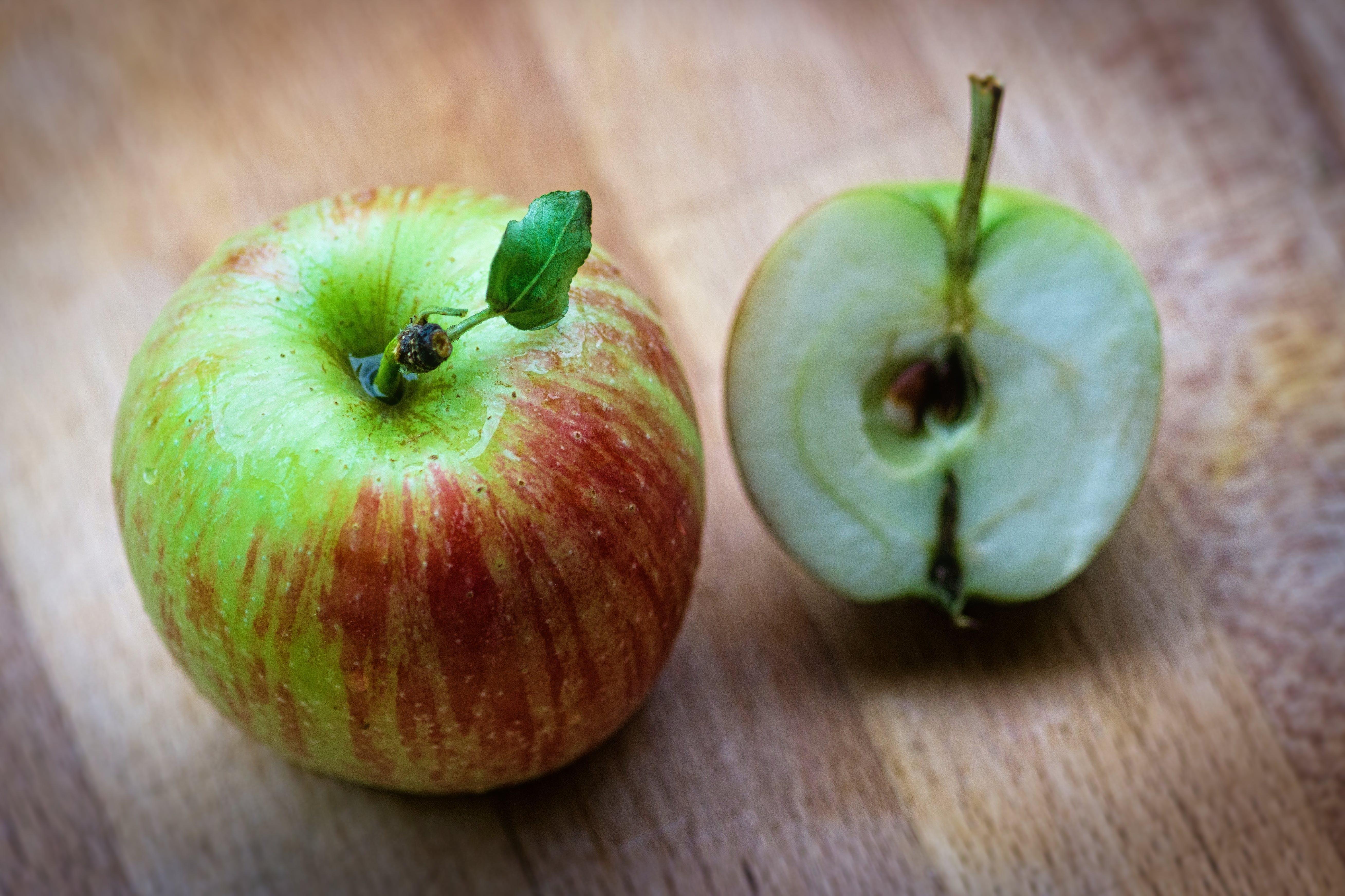 Slice Green Apple Fruit