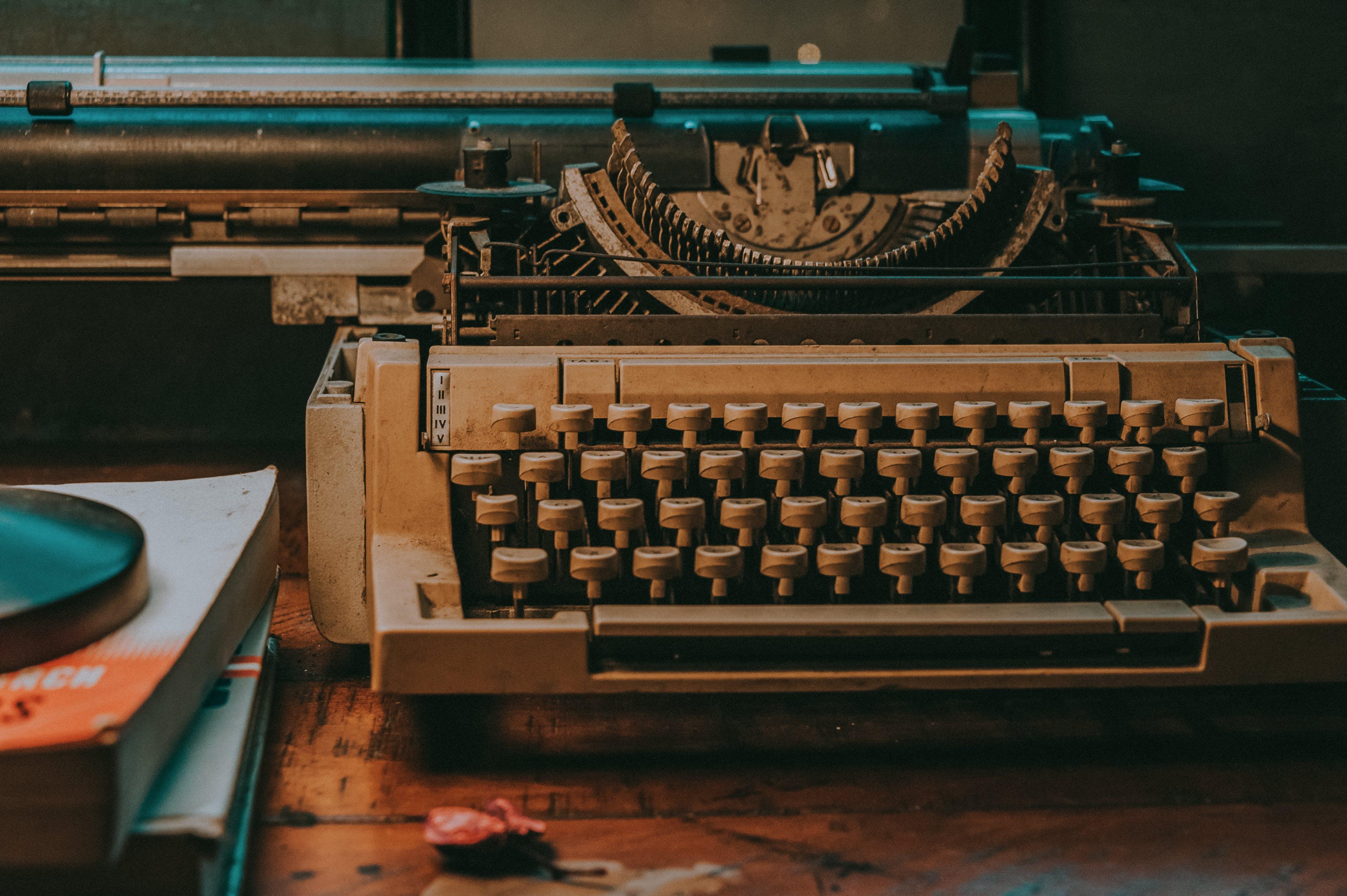 Close-Up Photo of Vintage Typewriter
