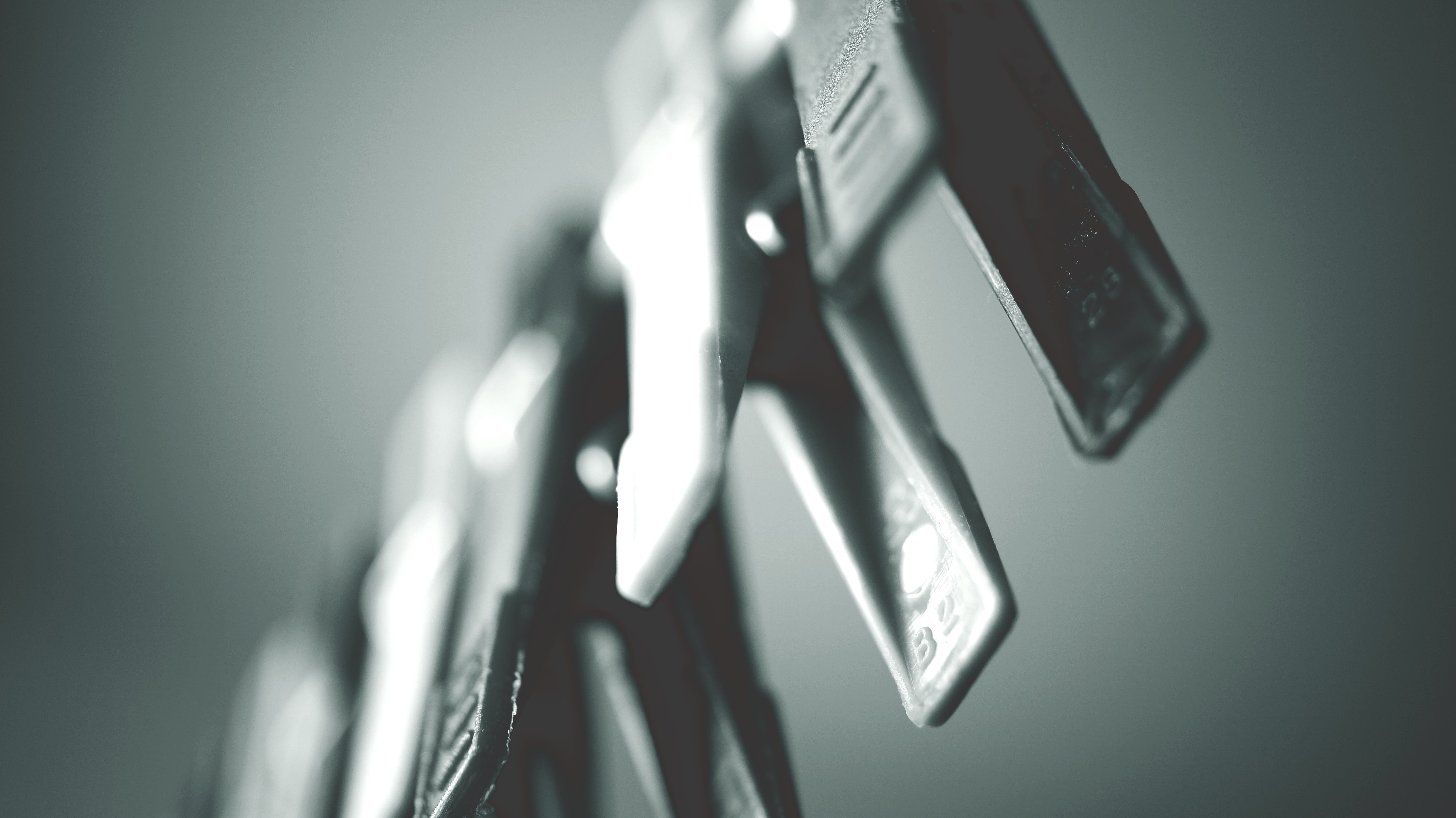 Grayscale Photography Clothes Clips