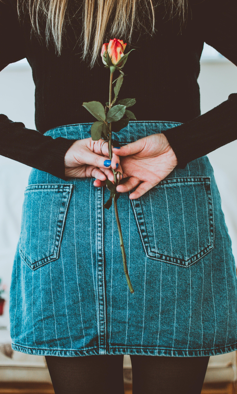 Gratis stockfoto met bloem, bloemen, denim, fashion