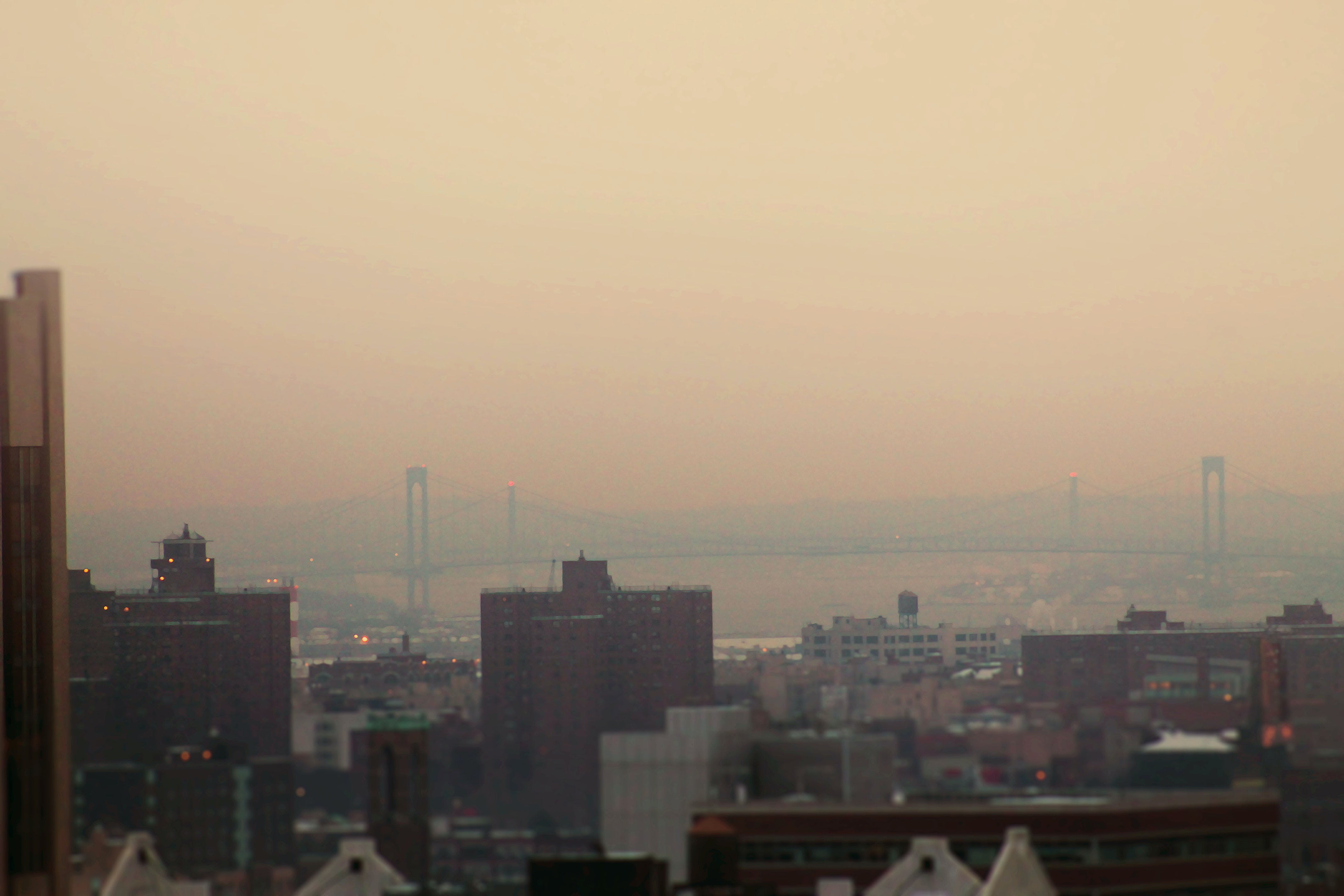 Kostenloses Stock Foto zu brücke, dunstig, harlem, new york