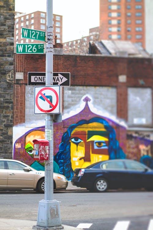 Darmowe zdjęcie z galerii z fresk, graffiti, harlem, jednokierunkowa