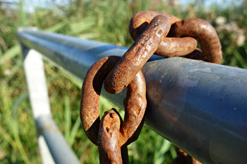 Free stock photo of chain, fence, gear, heavy