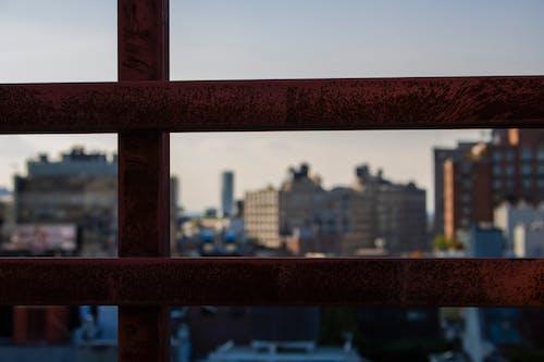 Kostenloses Stock Foto zu dach, grauer himmel, new york, skyline