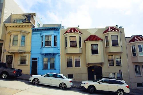 Darmowe zdjęcie z galerii z domy, kolorowy, krzywy, niebieski
