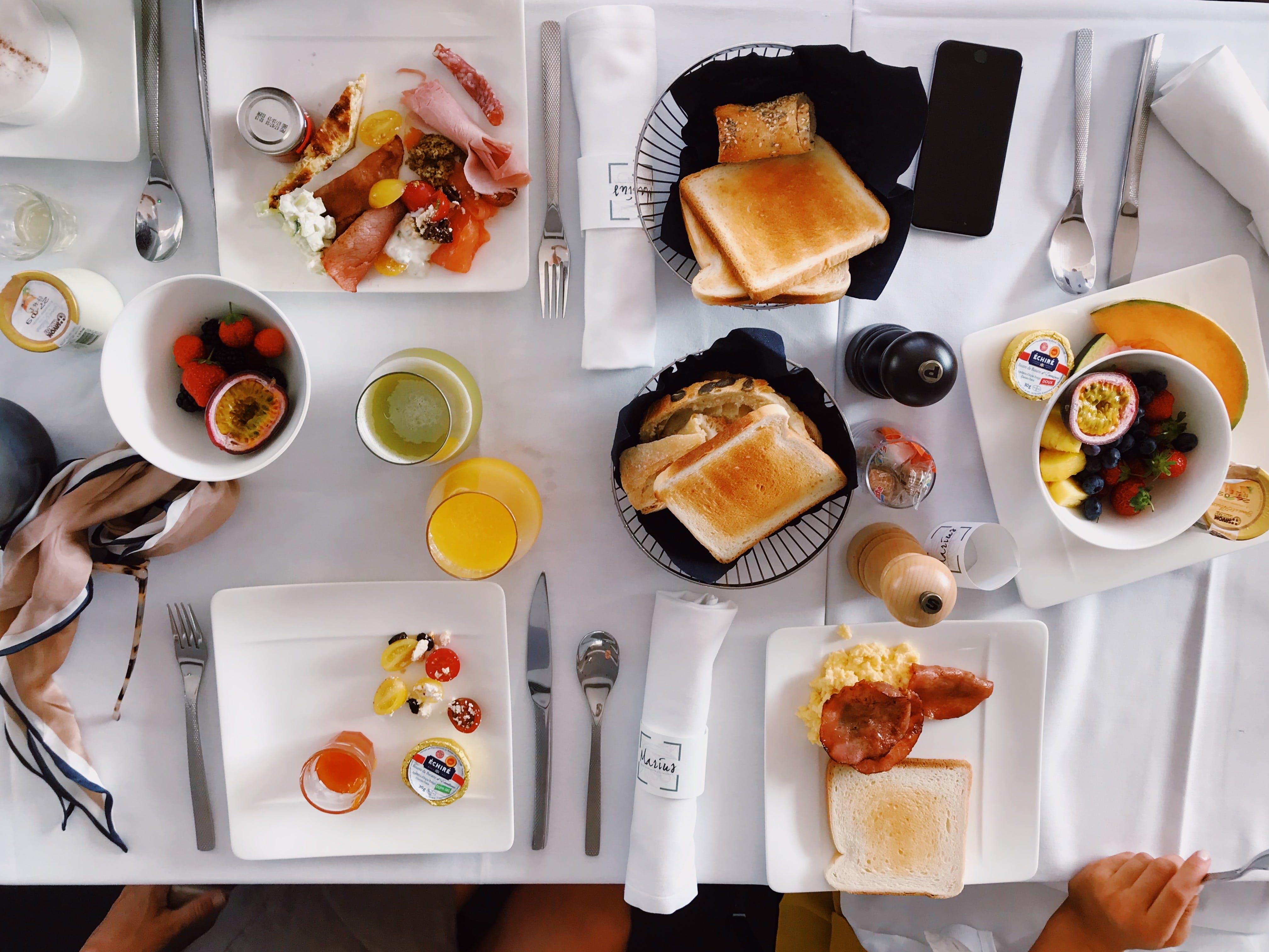 Kostenloses Stock Foto zu essen, flatlay, früchte, frühstück
