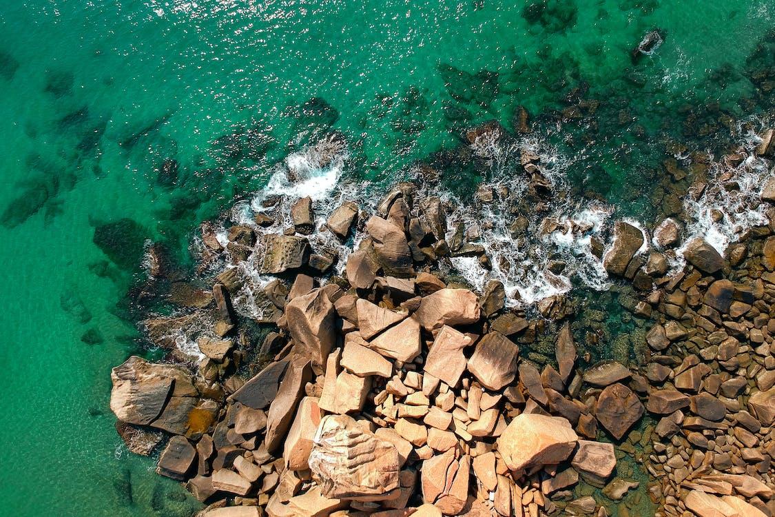 blocs, bord de l'océan, bord de mer