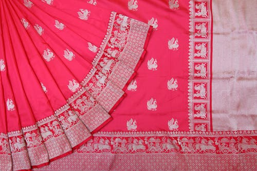 Free stock photo of online hotpink sarees, online pink sarees, online pure silk saris, online saree shop