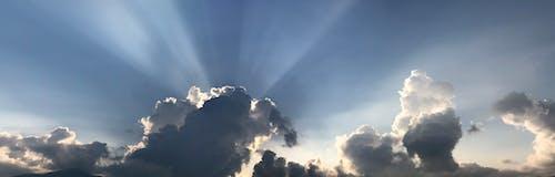 Free stock photo of bg, evening sun, god ray, golden hour