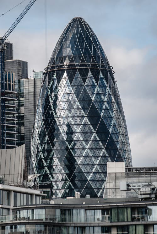 Free stock photo of architecture, foster, gherkin, glass