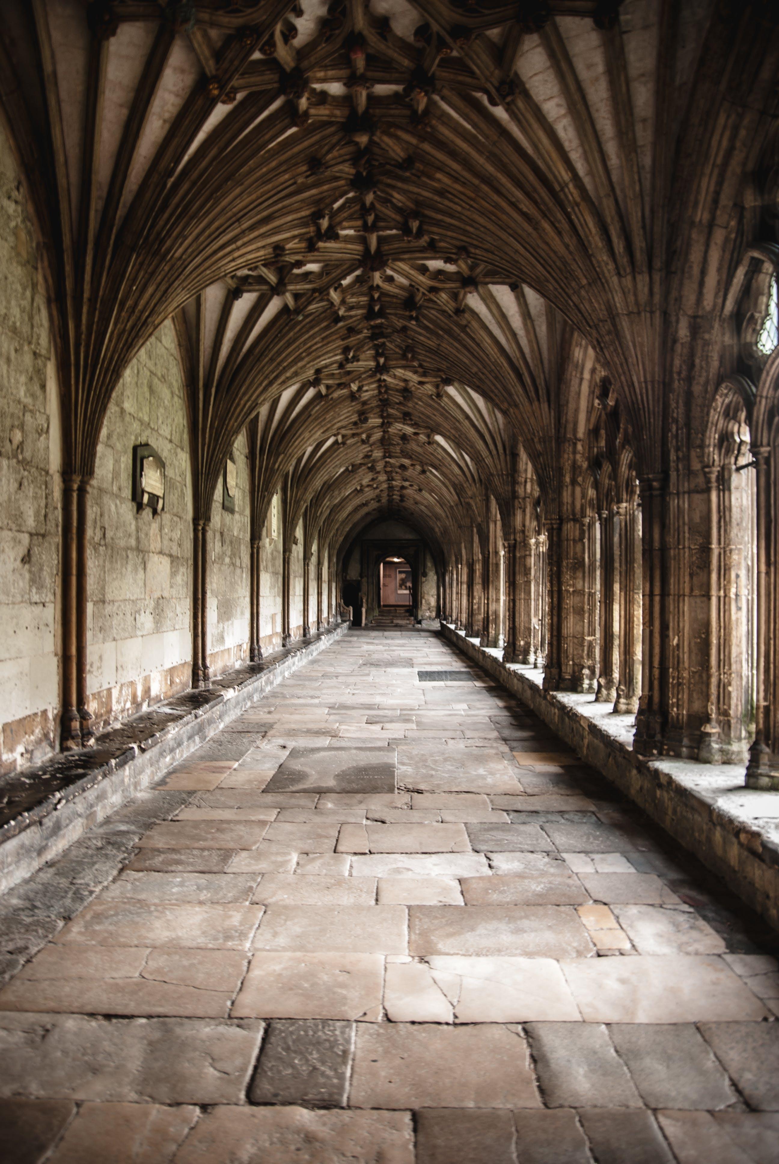 Brown Concrete Hallway