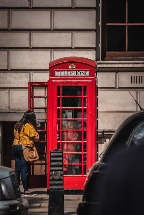 イングランド, ロンドン, 公衆電話ボックス, 電話ボックスの無料の写真素材