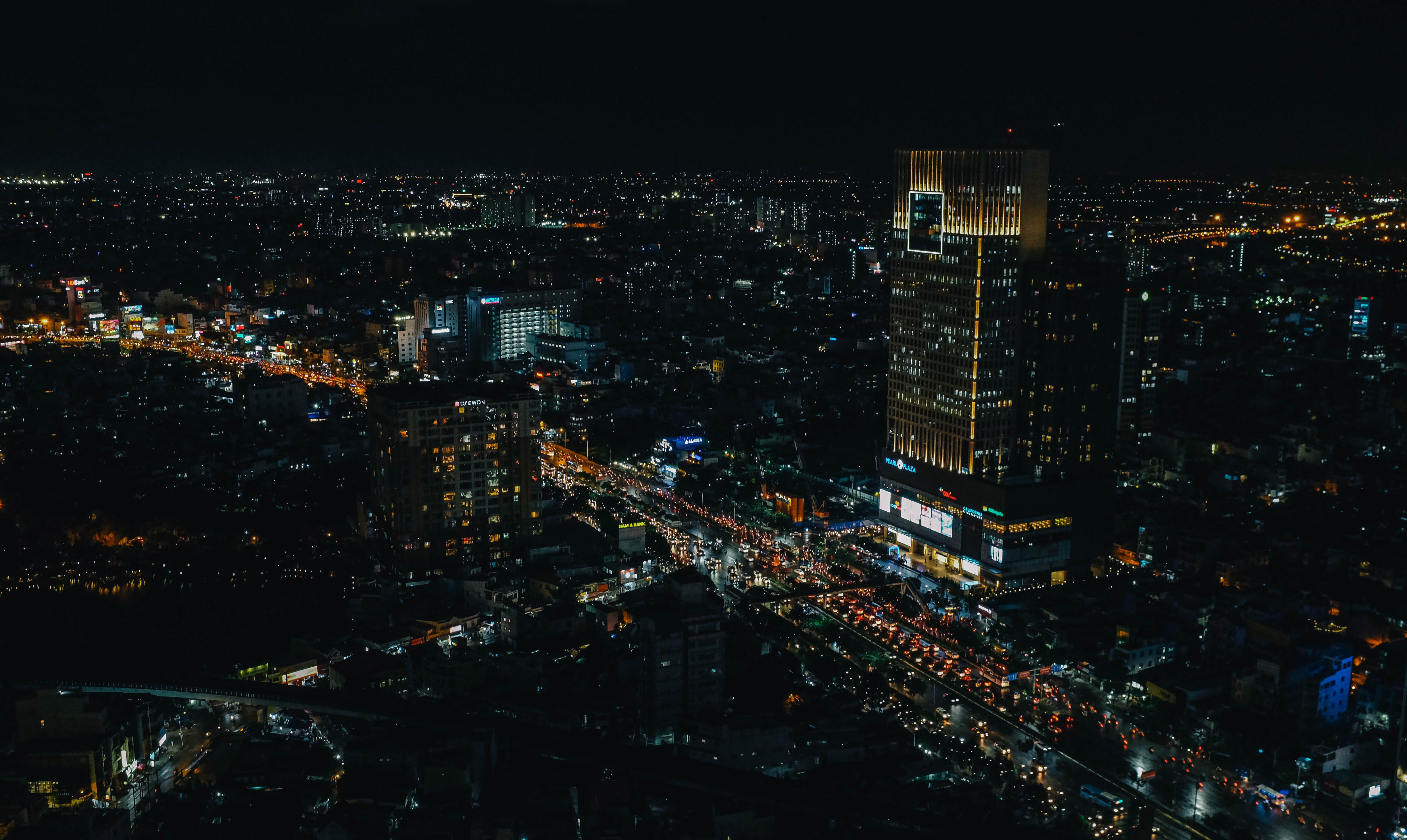 Free stock photo of city, lights, night, buildings